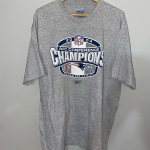 3 for $25 - Y2K Reebok NFL New England Patriots 2004 AFC Champs T-Shirt Size XL